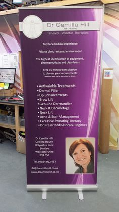 Here's one of our #RollerBanners, #printed and manufactured today! All ready for next day delivery!