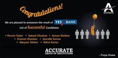 Yes Bank proudly said 'YES' to Accurate Management Students !!!!! #Accurate