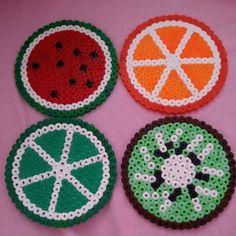 Fruit coasters perler beads by missellii
