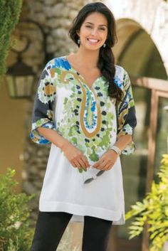 Daya Tunic - Paisley Tunic Top | Soft Surroundings Outlet