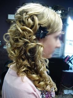 One of my favorite side-swept updos