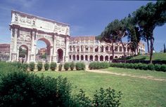Rome - Arch of Constantine and the Colosseum