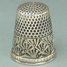 Antique Sterling Silver Palmette Band Thimble by Ketcham & McDougall * C1880s