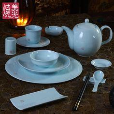 Chinese restaurant tablewareu0026porcelain celadon dinnerware JJ & Chinese celadon porcelain dinner setu0026dinnerware set HH | Celadon ...