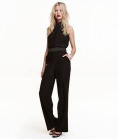 Halterneck Jumpsuit | Black | Ladies | H&M US