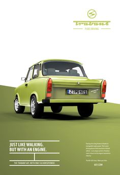 Advertising Campaign : Adeevee - Trabant Pure driving Advertising Campaign Inspiration Adeevee – Trabant Pure driving Advertisement Description Adeevee – Trabant Pure driving Sharing is caring ! Auto Poster, Poster Sport, Poster Cars, Poster Retro, Car Advertising, Creative Advertising, Advertising Design, Advertising Campaign, Design Food