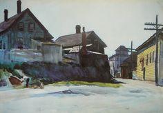 Dionyssos tumbir: urgetocreate: Edward Hopper, Back Street...