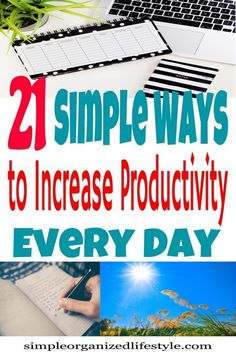 Simple ways and tips to increase productivity at home, at work and in life. How to manage time to increase productivity. Setting Goals, Goal Settings, Increase Productivity, Time Management Tips, Self Development, Personal Development, Parenting Advice, Saving Tips, Self Improvement