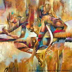 Figuras  arte abstracto desnuda  figura moderna por FigureArt