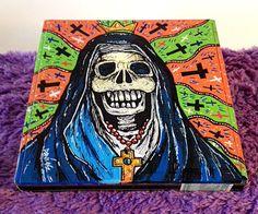 Custom Hand Painted Cigar Box Art – Skull Art – Skull –Horror - Cigar Box - Smoking Decor - Fine Art – Cigar Box Art - Stash Box - Cigar Box by TimothyDaviesArt on Etsy