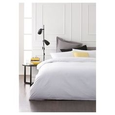 Thames Quilt Cover Set - Double Bed, White