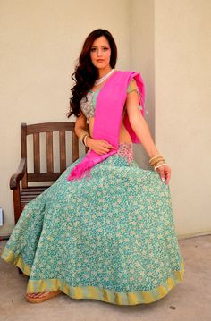 Tropical in cotton | Dancing Gopi Skirt Outfits