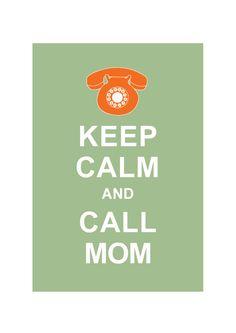Keep Calm and Call MOM : Mid century Retro Personalized custom Wedding Birthday Anniversary Gift Children Kids Home Decor - BUY 2 Get 1 Free. $10.80, via Etsy.
