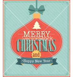 Merry christmas typographic design vector - by MiloArt on VectorStock®