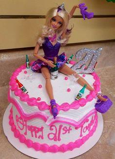 Funny Barbie cake ..... aw man I am.so makin this