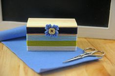 Floss Wrapped Bobbin Box by Tracy Miller for Papertrey Ink (February 2015)