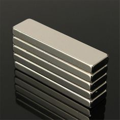 5pcs Super Strong 40 x 10 x 4 mm Block Bar Magnets Rare Earth Neodymium N35 Permanent magnet Square magnet #Affiliate