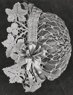 Vintage Very Old Lacy Crochet Boudoir Vine Hat Pattern Free UK Postage Vintage Crochet Patterns, Crochet Motif, Irish Crochet, Crochet Lace, Crochet Edgings, Vintage Knitting, Crochet Shawl, Free Knitting, Downton Abbey