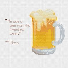Plato's Brew Cross Stitch Pattern by QarynsCreations on Etsy