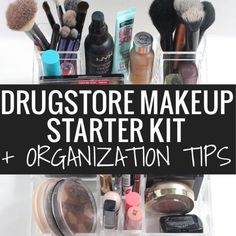Awesome drugstore makeup starter kit recommendations and how to store it all with Caboodles!