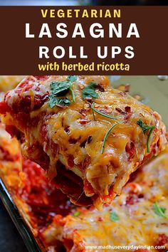 Lasagna roll ups with vegetables and ricotta cheese is a easy version of the traditional lasagna recipe.Easy to make, perfectly portioned and looks pretty! Freezer freindly, great make a head dish and packed with flavor. Cooked lasagna sheets are filled with sauteed veggie, herbed ricotta and cheese. Easy family dinner recipe or perfect for gatherings. #lasagnarollups #easylasagna #vegetablelasagnarollups #bestlasagna #
