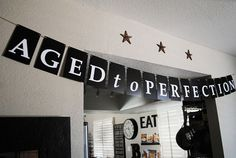 "Jack Daniels inspired ""Aged to Perfection"" party bunting - printable"