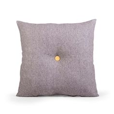 Ideal for your living area or study, this traditional grey cushion features an eye-catching single yellow button that will provide a update to your modern decor.