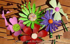 br'icolage fleurs recyclage bouteilles