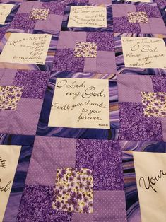 Handmade Scripture Quilt can be ordered from my Etsy shop. Choose your own fabric. Quilt Blocks Easy, Quilt Block Patterns, Pattern Blocks, Quilting Designs, Quilt Design, Cross Quilt, Fall Quilts, Warm And Cozy, Marketing And Advertising