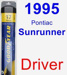 Driver Wiper Blade for 1995 Pontiac Sunrunner - Assurance
