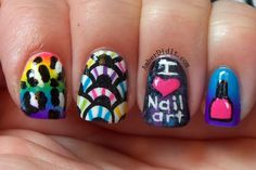 I ❤️nail art # nails#color