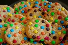 M&M cookies; like chocolate chip cookies, but magical! Biscuits, M M Cookies, Candy Cookies, Sugar Cookies, Chip Cookies, Food Porn, Food Icons, Köstliche Desserts, Snacks
