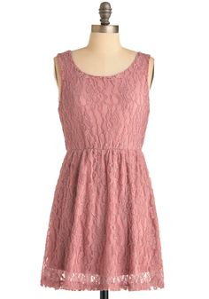 Day at the Laces Dress - Short, Pink, Solid, Lace, Sheath / Shift, Sleeveless, Bows, Party, Mini