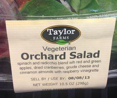 They spell vinaigrette right but not vegetArian? Sigh.
