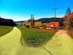 Countryside road with two options by Patrick Jobst. Hirschbach im Mühlkreis, Austria
