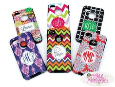 Monogrammed Otterboxes for Your Iphone 4 and Iphone 5