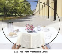 1.56 Free Form Progressive Lenses Multifocal Glasses Prescription Lens For Long and Short Distances