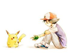 ash and pikachu Fanart from Pokemon. Pikachu Pikachu, Ash Pokemon, Pokemon Ash Ketchum, Pokemon Fan Art, Cute Pokemon, Pokemon Comics, Satoshi Pokemon, Manga, Chibi