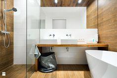 Łazienka styl Skandynawski - zdjęcie od RedCubeDesign projektowanie wnętrz - Łazienka - Styl Skandynawski - RedCubeDesign projektowanie wnętrz Bathroom Bath, Laundry In Bathroom, Basement Bathroom, Bathrooms, Wc Design, Cube Design, Interior Design, Flat Ideas, Classic Interior