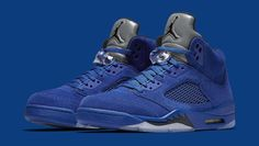 the latest 0b8f2 243cd Air Jordan 5 Royal Blue Suede Flight Suit Release Date 136027-401   Sole  Collector