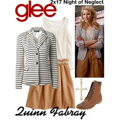 Quinn Fabray (Glee) : 2x17 by aure26 on Polyvore featuring MaxMara and glee
