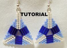 Tutorial Peyote Triangle Bugle Beaded Earrings by SkeeterStudios, $5.00....uses delicas and size 3 bugle beads, not tilas