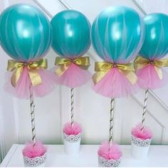 The time has come to design, decorate and be creative learning a lot of ideas to make the most beautiful and original Balloon Centerpieces through a guide Balloon Centerpieces, Balloon Decorations, Birthday Party Decorations, Baby Shower Decorations, Shower Centerpieces, Mermaid Birthday, Unicorn Birthday Parties, Girl Birthday, Surprise Birthday