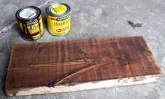 Dark walnut oil stain base with weathered oak on top. Rustic Yet Refined Wood Finish Staining Pine Wood, Diy Wood Stain, Sanding Wood, Oak Stain, Dark Walnut Stain, Walnut Wood, Furniture Dolly, Paint Furniture, Rustic Furniture