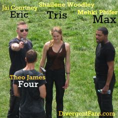 Whoa! Eric looks pretty B.A. This must be the scene where he threatens to shoot Four in the head because he thinks he's under the simulation. ~Kristen   Divergent Movie Set Update: New Photos Including Mekhi Phifer, Theo James, Shailene Woodley, & Jai Courtney - DIVERGENT Fansite