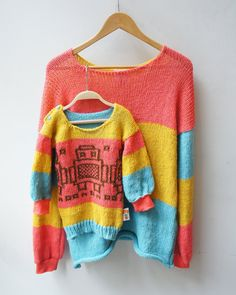 Matching sweaters for moms and by mandalinarossa on Etsy