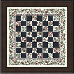 Checkerboard cross stitch pattern