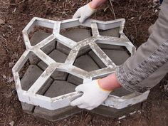 Betonista pihapolku
