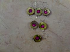 Lime Green & Hot Pink Stitch Markers. $10.00, via Etsy.