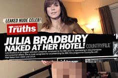 Leaked! TV Presenter Julia Bradbury Totall Nude In Her Hotel Room!